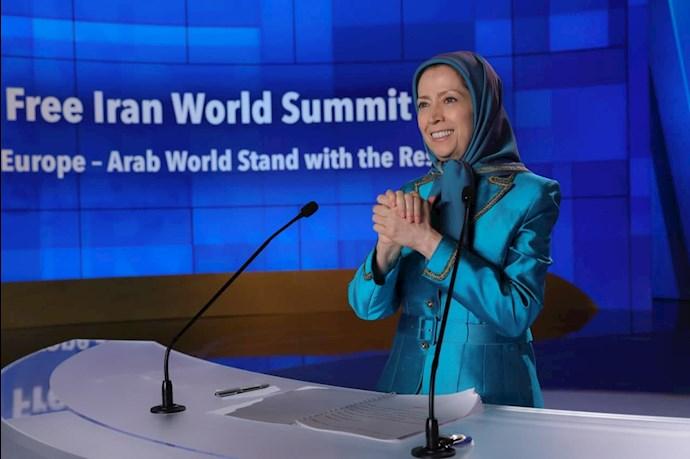 مریم رجوی رئیسجمهور برگزیده مقاومت - دومین روز گردهمایی جهانی ایران آزاد - 2