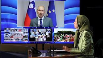 یانس یانشا – نخستوزیر کنونی اسلوونی در حال سخنرانی