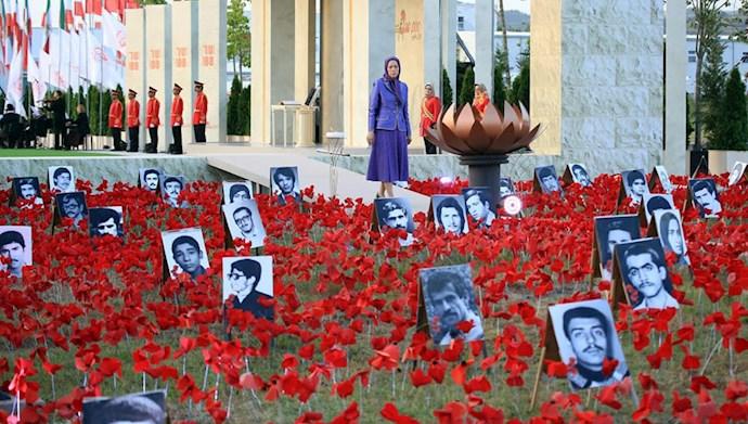 بازدید خانم مریم رجوی از یادواره سربداران سال ۶۷ و فراخوان به محاکمه بینالمللی خامنهای، رئیسی و اژهای به جرم نسلکشی و جنایت علیه بشریت - 5