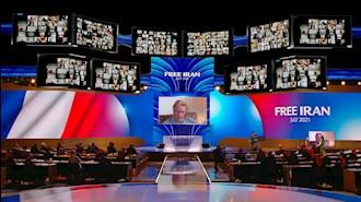 سخنرانی شخصیتهای سیاسی در گردهمایی جهانی ایران آزاد