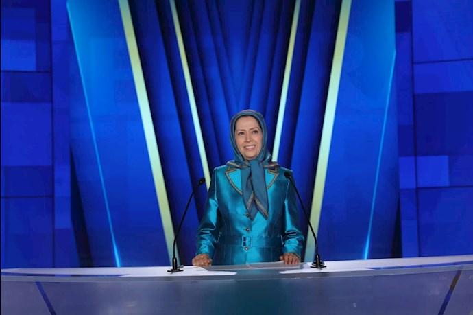 مریم رجوی رئیسجمهور برگزیده مقاومت - دومین روز گردهمایی جهانی ایران آزاد - 5