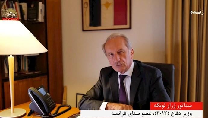 سناتور ژرار لونگه وزیر دفاع (۲۰۱۲)، عضو سنای فرانسه