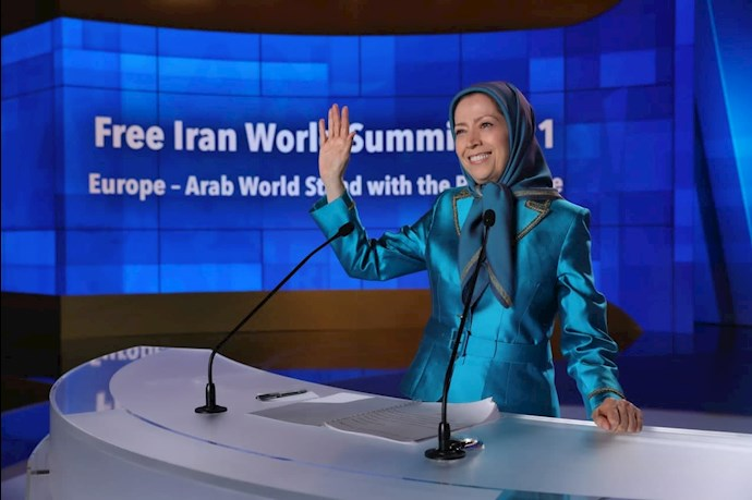 مریم رجوی رئیسجمهور برگزیده مقاومت - دومین روز گردهمایی جهانی ایران آزاد - 3