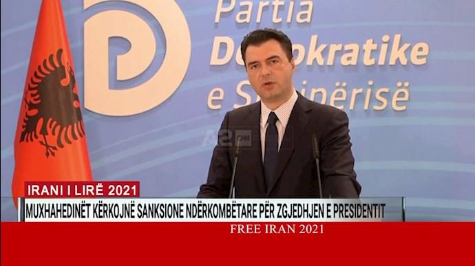 تلویزیون A۲ آلبانی - لولزیم باشا رهبر اپوزیسیون آلبانی در گردهمایی ایران آزاد