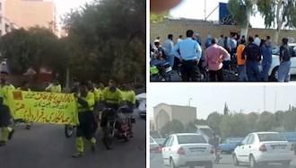 اعتراضات  در  اهواز و کوت عبدالله و یزد