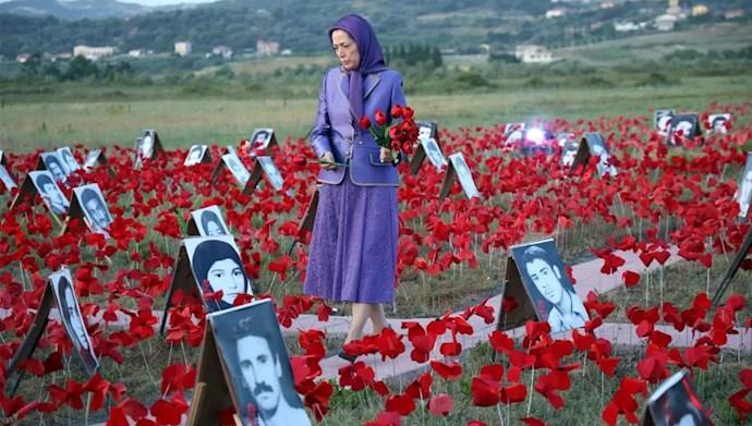 مریم رجوی - سومین روز گردهمایی جهانی ایران آزاد - یادواره سربهداران سال ۶۷
