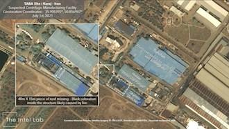 تصویری از موسسه اینتل لب و خسارات وارده به ساختمان انرژی اتمی رژیم در کرج