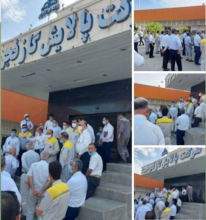 -تجمع اعتراضی کارکنان رسمی شرکت پالایش گاز فجر جم.