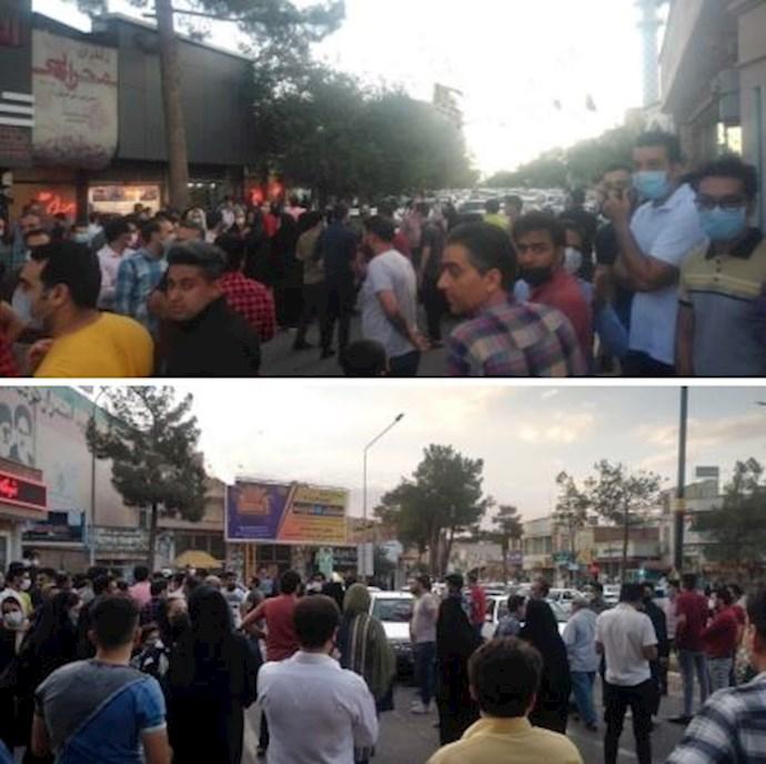 -تجمع اعتراضی بازاریان گناباد به تعطیلی بازار