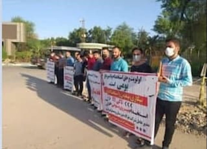 -تجمع اعتراضی جوانان روستای قلعه چنعان