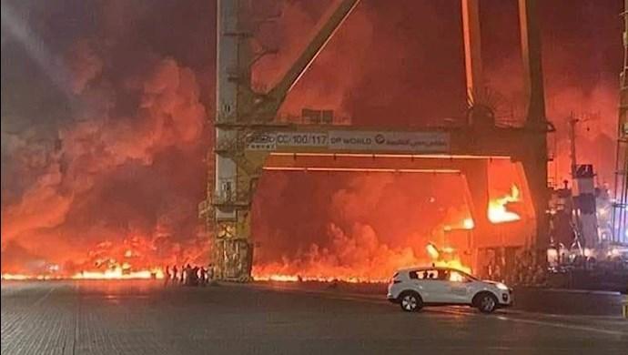 انفجار در یک کشتی در دبی