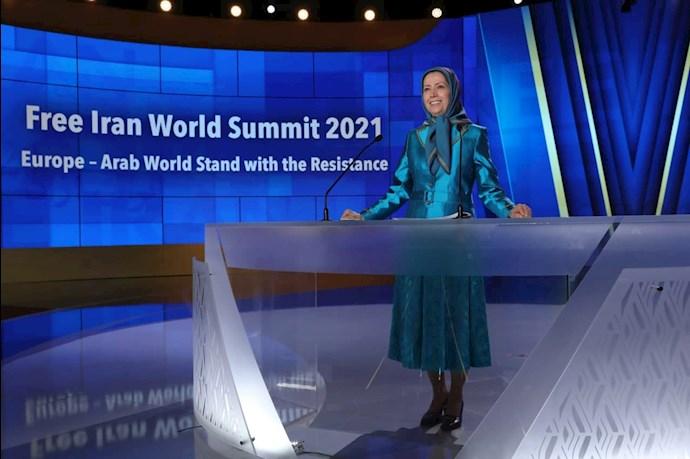 مریم رجوی رئیسجمهور برگزیده مقاومت - دومین روز گردهمایی جهانی ایران آزاد - 4