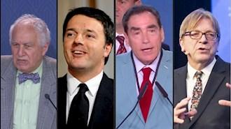 نخستوزیران سابق گی فرهود فستاد، پِتره رومن، ماتئو رنتزی و سید احمد غزالی