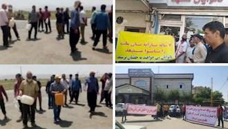 اعتراضات در مشهد، ازنا و خراسان رضوی