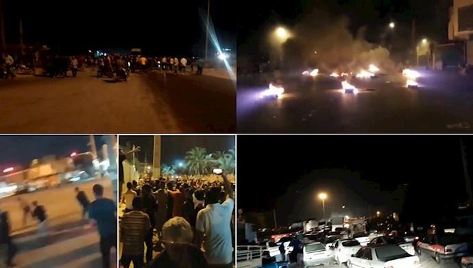 ششمین شب خیزش خوزستان
