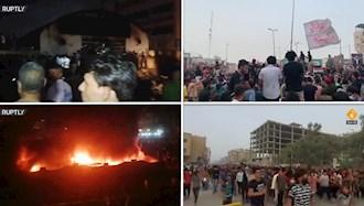 تظاهرات خشمگینانه در ناصریه در پی فاجعه آتش سوزی در بیمارستان