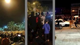 پنجمین شب خیزش مردم خوزستان