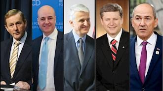 نخست وزیران یانس یانشا، استفن هارپر، پاندلی مایکو، فردریک راینفلت و اندا کنی