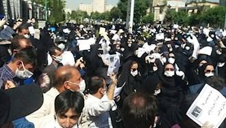 تجمع اعتراضی معلمان - عکس از آرشیو