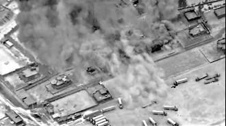 حمله آمریکا به شبه نظامیان وابسته به رژیم ایران در مرز سوریه و عراق