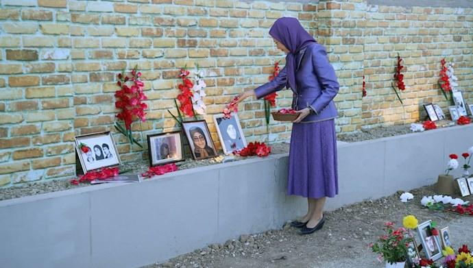 بازدید خانم مریم رجوی از یادواره سربداران سال ۶۷ و فراخوان به محاکمه بینالمللی خامنهای، رئیسی و اژهای به جرم نسلکشی و جنایت علیه بشریت - 7