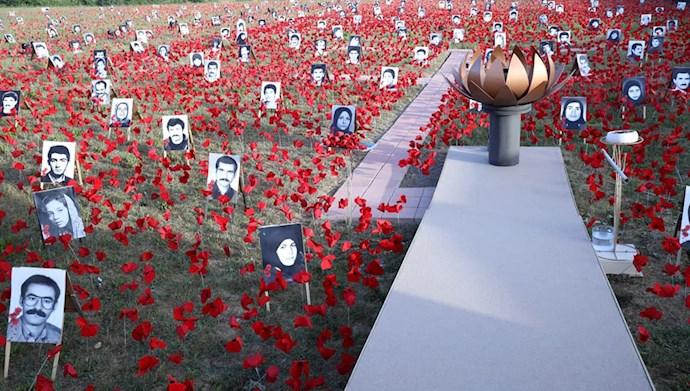 بازدید خانم مریم رجوی از یادواره سربداران سال ۶۷ و فراخوان به محاکمه بینالمللی خامنهای، رئیسی و اژهای به جرم نسلکشی و جنایت علیه بشریت - 10