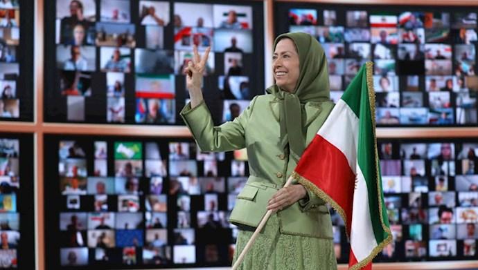 مریم رجوی رئیس جمهور برگزیده مقاومت ایران - گردهمایی جهانی ایران آزاد - ۱۹تیر۱۴۰۰