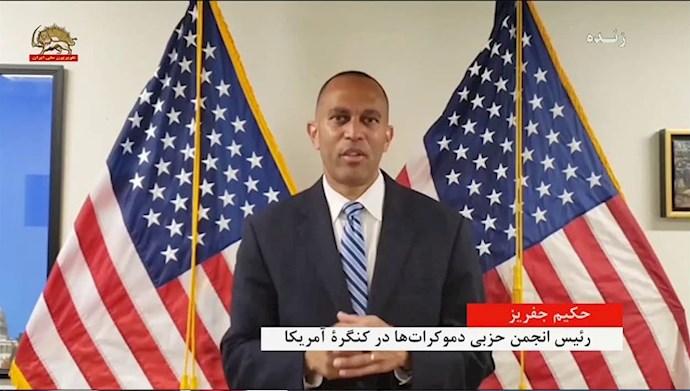 حکیم جفریز رئیس انجمن حزبی دموکرات ها در کنگره آمریکا