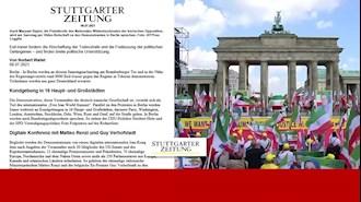 اشتوتگارتر سایتونگ: تظاهرات بزرگ در برلین بخشی از اجلاس جهانی ایران آزاد