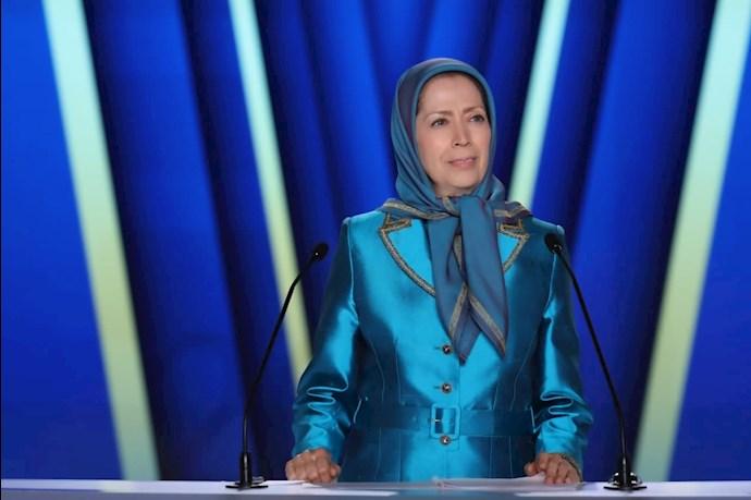 مریم رجوی رئیسجمهور برگزیده مقاومت - دومین روز گردهمایی جهانی ایران آزاد - 1