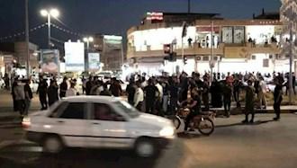 تجمع اعتراضی مردم خشمگین خرمشهر