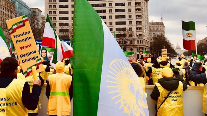 تظاهرات ایرانیان آزاده در حمایت از مقاومت ایران