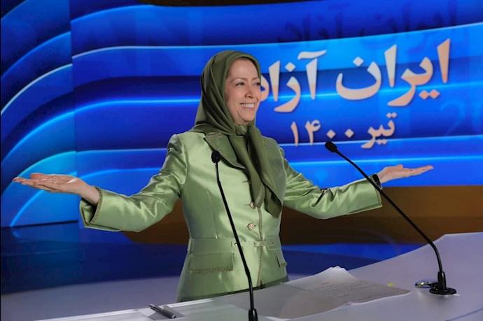 مریم رجوی رئیسجمهور برگزیده مقاومت ایران - گردهمایی جهانی ایران آزاد -۱۹تیر ۱۴۰۰ - 3