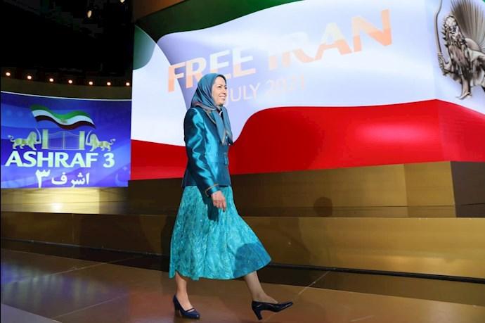 مریم رجوی رئیسجمهور برگزیده مقاومت - دومین روز گردهمایی جهانی ایران آزاد - 7