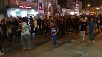 تظاهرات جوانان دلیر خوزستان