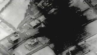 حملات هوایی آمریکا به شبه نظامیان وابسته به رژیم ایران در مرز سوریه و عراق