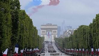 مراسم سالگرد انقلاب کبیر فرانسه در پاریس