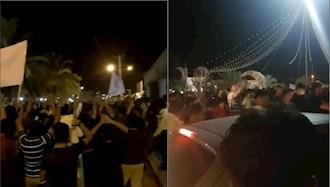 تظاهرات مردم خشمگین اهواز در اعتراض به قطع آب