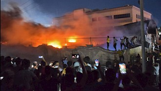 آتش سوزی در بیمارستان الحسین در ناصریه عراق
