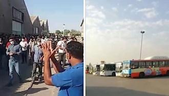 اعتصاب رانندگان شیراز و کارگران هفت تپه