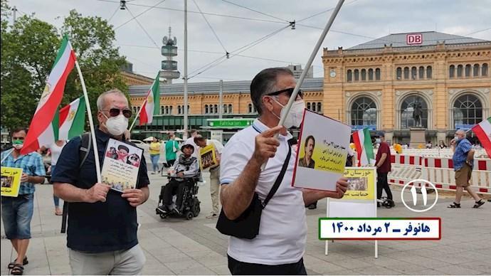 -تظاهرات یاران شورشگر در حمایت از قیام خوزستان و سایر شهرهای بپا خاسته - 10