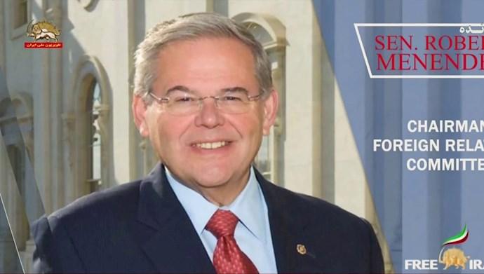 رابرت منندز رئیس کمیته روابط خارجی سنای آمریکا