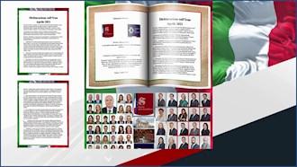 بیانیهٔ ۶۱عضو سنا و پارلمان ایتالیا در آستانه گردهمایی جهانی ایران آزاد