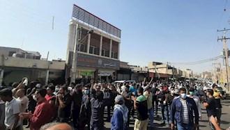 تظاهرات کارگران هفتتپه در خیابانهای شوش