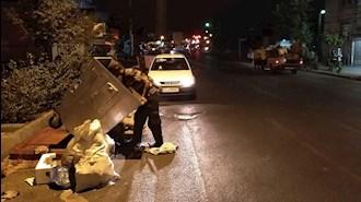 زباله گردی در خیابانهای تهران