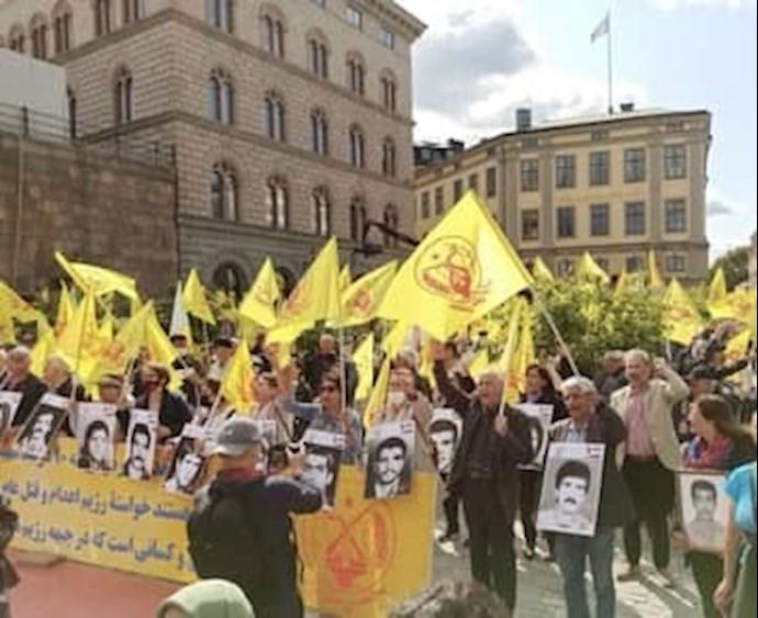 تظاهرات ایرانیان آزاده در سوئد بهمناسبت سی و سومین سال قتلعام زندانیان سیاسی در ایران - اول شهریور ۱۴۰۰ - 1