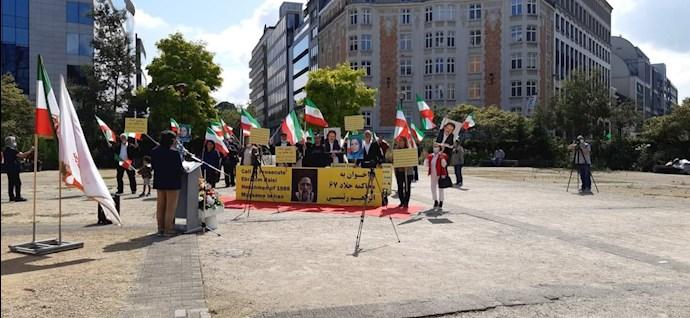 -بروکسل - بلژیک: آکسیون اعتراضی هموطنان آزاده برای محاکمه آخوند ابراهیم رئیسی