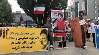تظاهرات ایرانیان آزاده علیه رئیسی جلاد