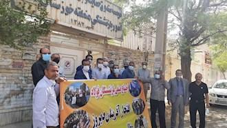 اعتراض  بازنشستگان صنایع فولاد