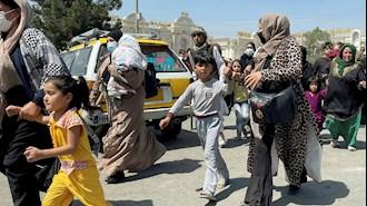 زنان و دختران افغانی که تلاش میکنند خود را به فرودگاه کابل برسانند